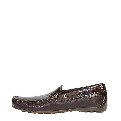 CALLAGHAN - Mocasines para Hombre Rojo Marron 45: Amazon.es: Zapatos y complementos
