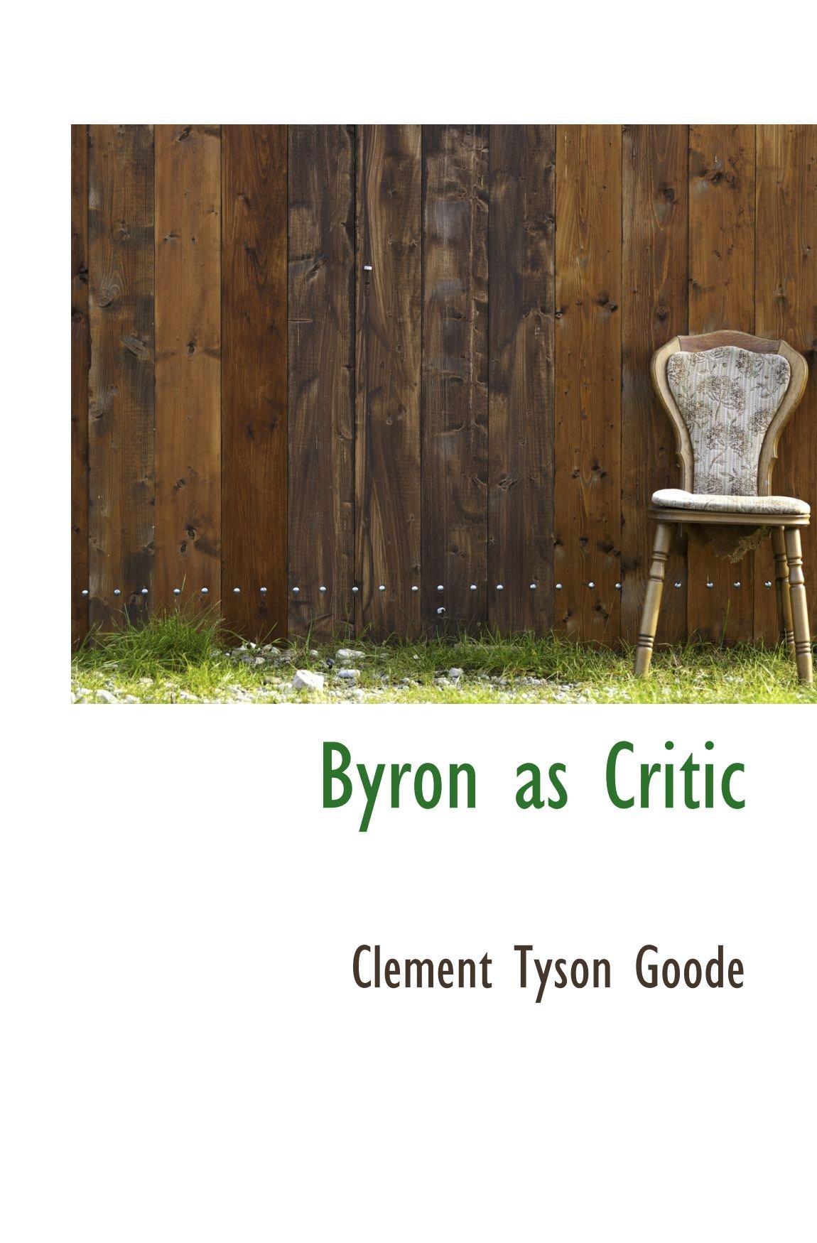 Byron as Critic pdf