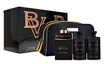 8a1dc0d8733 Amazon.com   Lote Bvlgari Man In Black Edp 100Ml + Shower Gel 75Ml + After  Shave Balm 75Ml + Regalo   Beauty