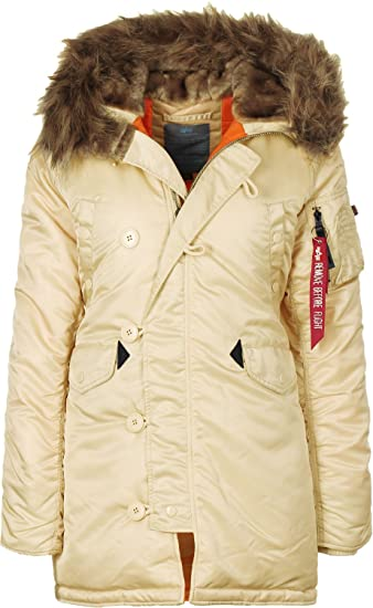 a6e1c3027149 Alpha Industries N3B VF 59 Damen Jacke Beige XS  Amazon.de  Auto