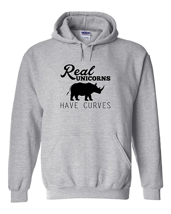 1eccb8fa1e2 Real Unicorns Have Curves Hoodie at Amazon Men s Clothing store