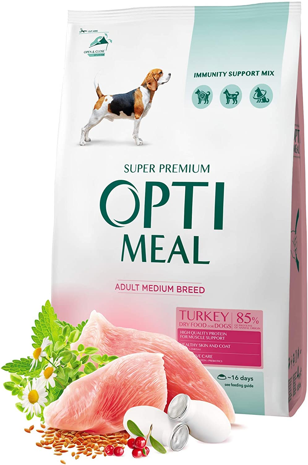 OPtimeal Natural Dry Dog Food for Small Breeds Adults - Duck - High-Protein and Stomatch-Friendly Formula