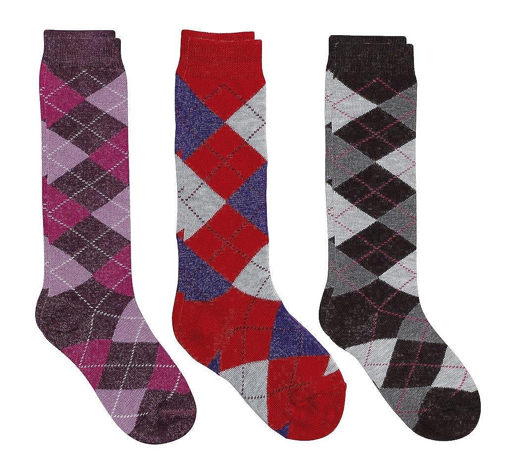 e6e91813834 Amazon.com  Country Kids Girls  Fun Plaid Argyle Knee Hi Socks