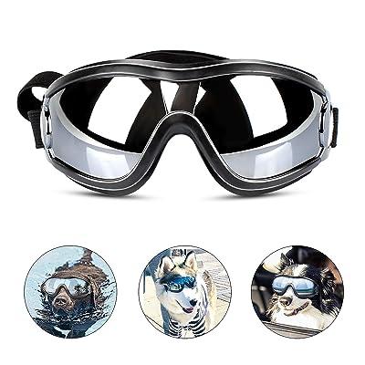 PEDOMUS Dog Sunglasses Dog Goggles Adjustable Strap