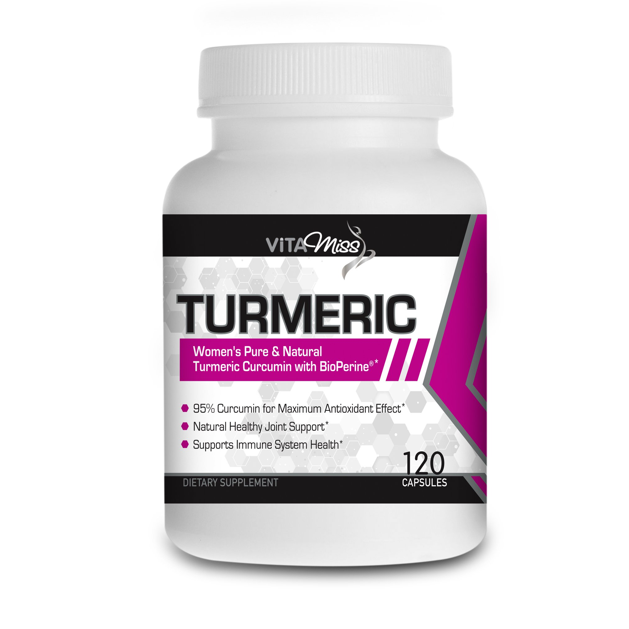 Vitamiss Turmeric – Turmeric Curcumin 95% 1,000mg servings, Support Joints, Vision & Liver with Powerful Anti-inflammatory and Anti-Aging Benefits