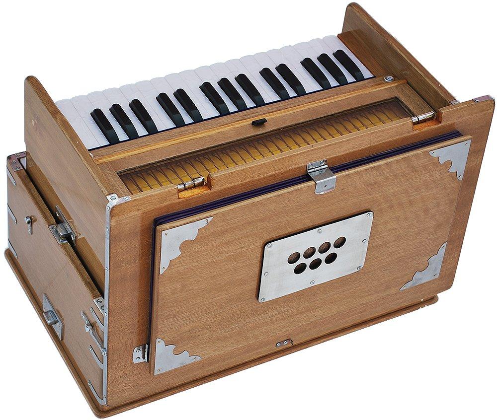 Safri Harmonium- 2¾ Octave By Kaayna Musicals-Portable, Traveler, Baja, 4 Stops (2 Drone), Two Set Reed- Bass/Male, Teak Color, Gig Bag, Tuning: 440 Hz, Suitable for Yoga, Bhajan, Kirtan, Mantra, etc by Kaayna Musicals (Image #6)