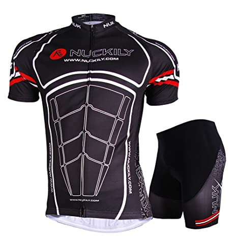 faaaa4ad4 NUCKILY Men s Kingkong Design Breathable Cycling Jersey and Short Suit Small