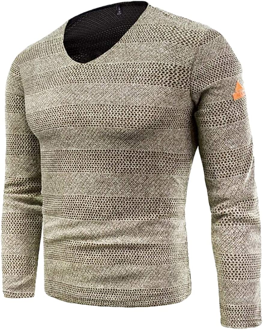 X-Future Men Classic Long Sleeve Scoop Neck Knitwear Pullover Sweater