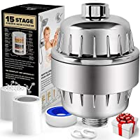 YOMYM15 Stage Shower Filter with Vitamin C for Hard Water - High Output Shower Water Filter to Remove Chlorine and Fluoride - Showerhead Filter
