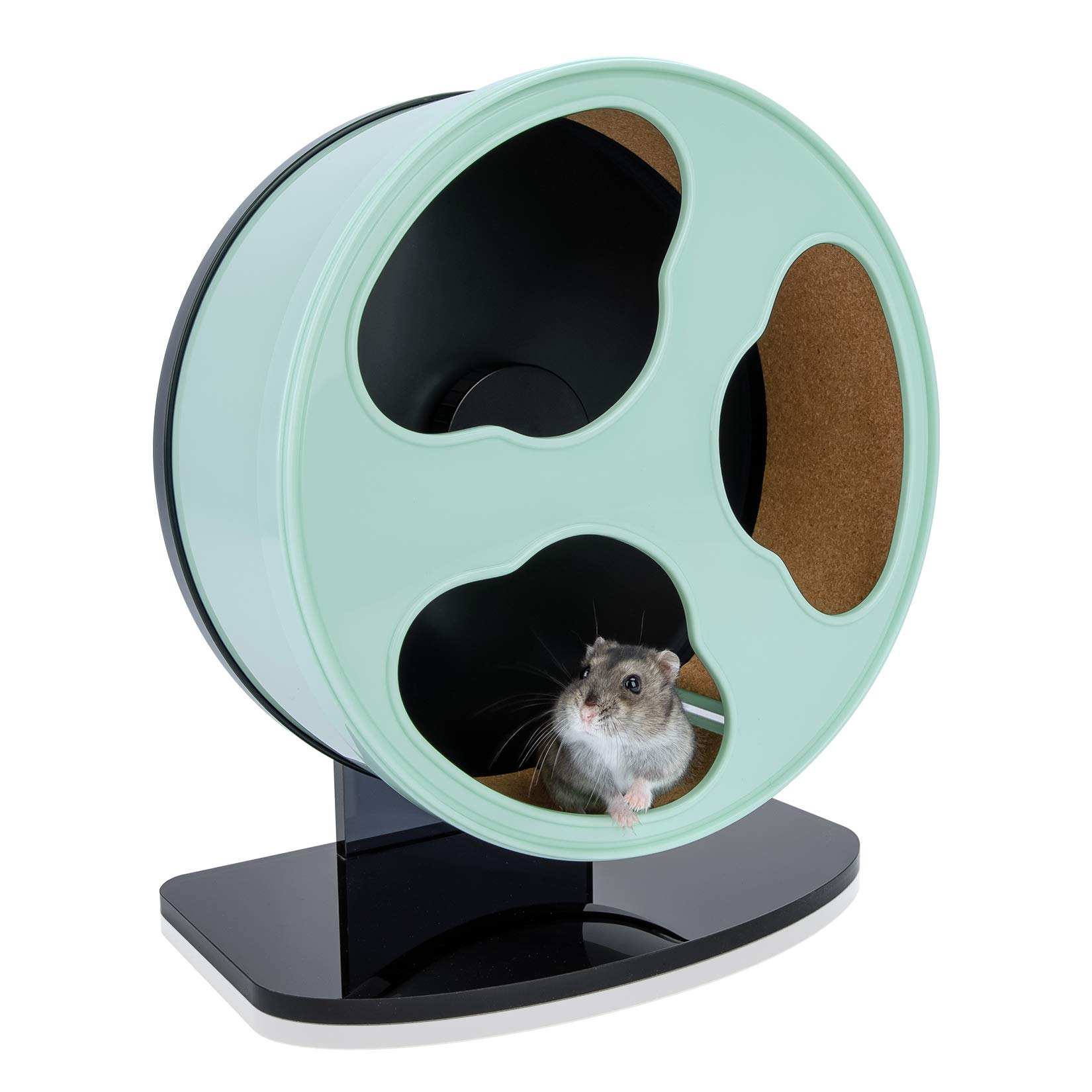 Niteangel Quiet Hamster Exercise Wheel - Dark Clouds Series Hamster Running Wheels for Dwarf Syrian Hamsters Gerbils Mice or Other Small Sized Pets