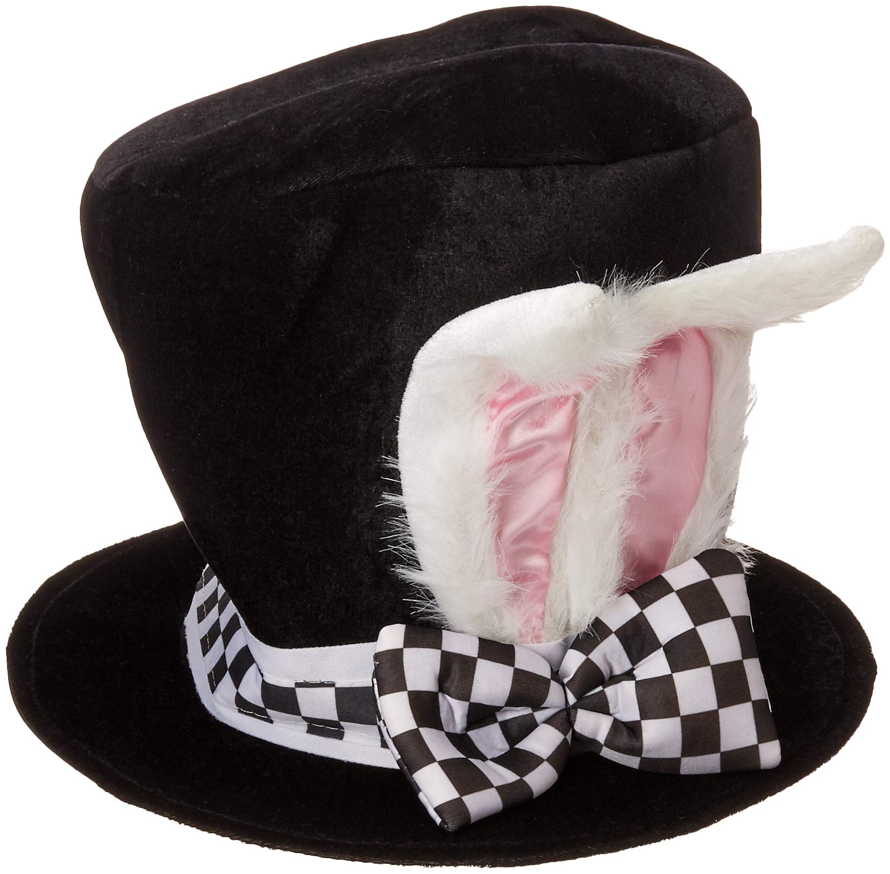 637d7d4f972 Jacobson Hat Company Men s Adult Black Velvet Bunny Ear Top Hat product  image