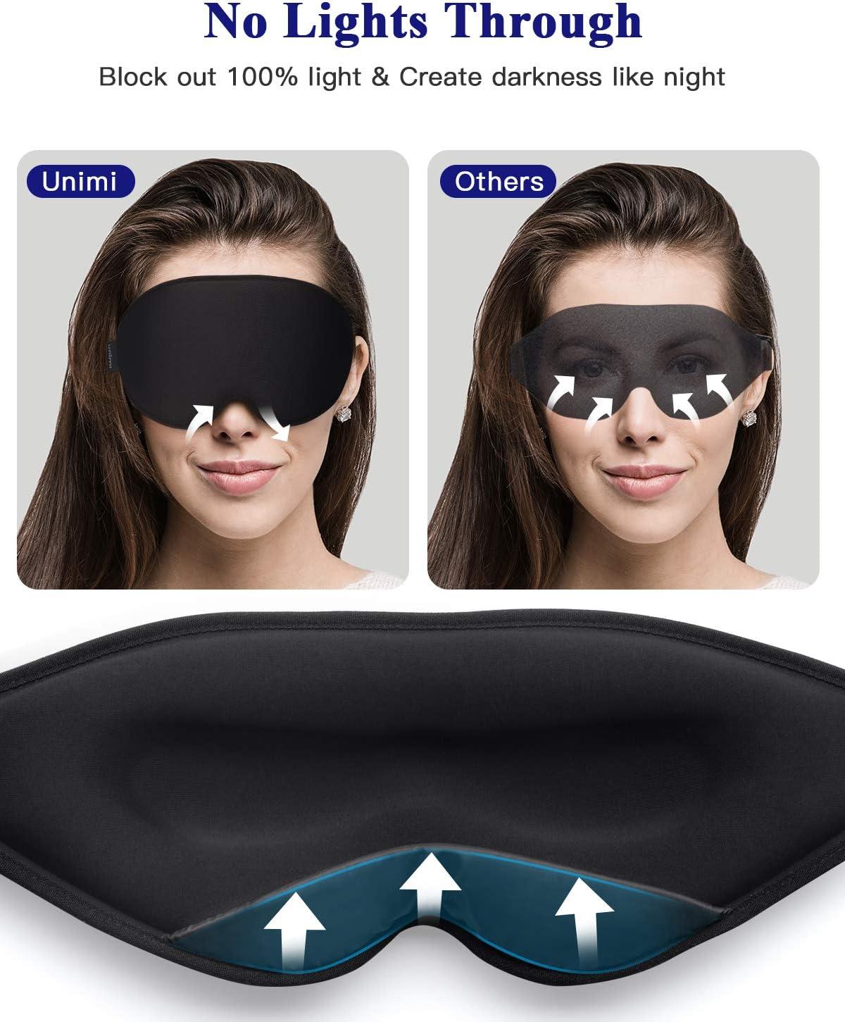Unimi Newest Sleep Eye Mask for Men Women,Comfortable Silk Eye Sleeping Mask & Blindfold,The Real Deep Contoured Cup Sleep Mask Eye Mask for Sleeping,100% Shading Eye Shade Cover for Travel,Nap,Yoga: Health & Personal Care