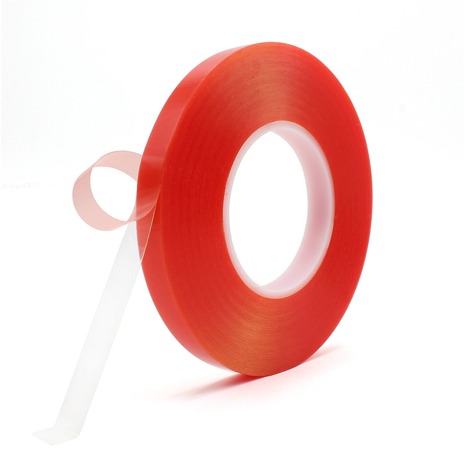 Two Sided Tape, Atemto 164ft PET Acrylic Double Sided Adhesive Sticker Tape 7.8mil Clear Tape Weatherproof Heavy Duty Heat Resistance Glue Ultra Strength Industrial Outdoor Tape (10mm)