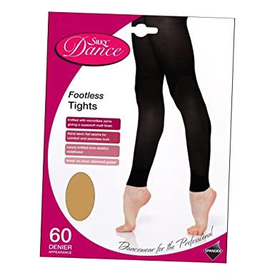 81ce1b4d27f70 Silky Super Soft Footless Dance Tights with Flat Seams: Amazon.co.uk:  Clothing