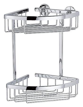 verchromt Nie Wieder Bohren Aluxx Eckablage für die Dusche,Aluminium rostfrei