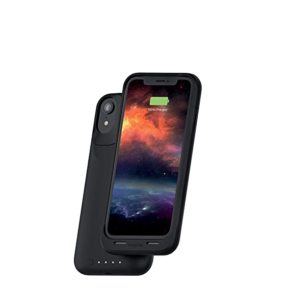 super popular b9ea2 a08a3 mophie Juice Pack Air - Mfi Certified - Wireless Charging - Protective  Battery Pack Case for Apple iPhone XR – Black