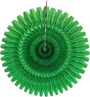 product image for 3-Pack 21 Inch Tissue Paper Party Fan Decoration (Light Green)