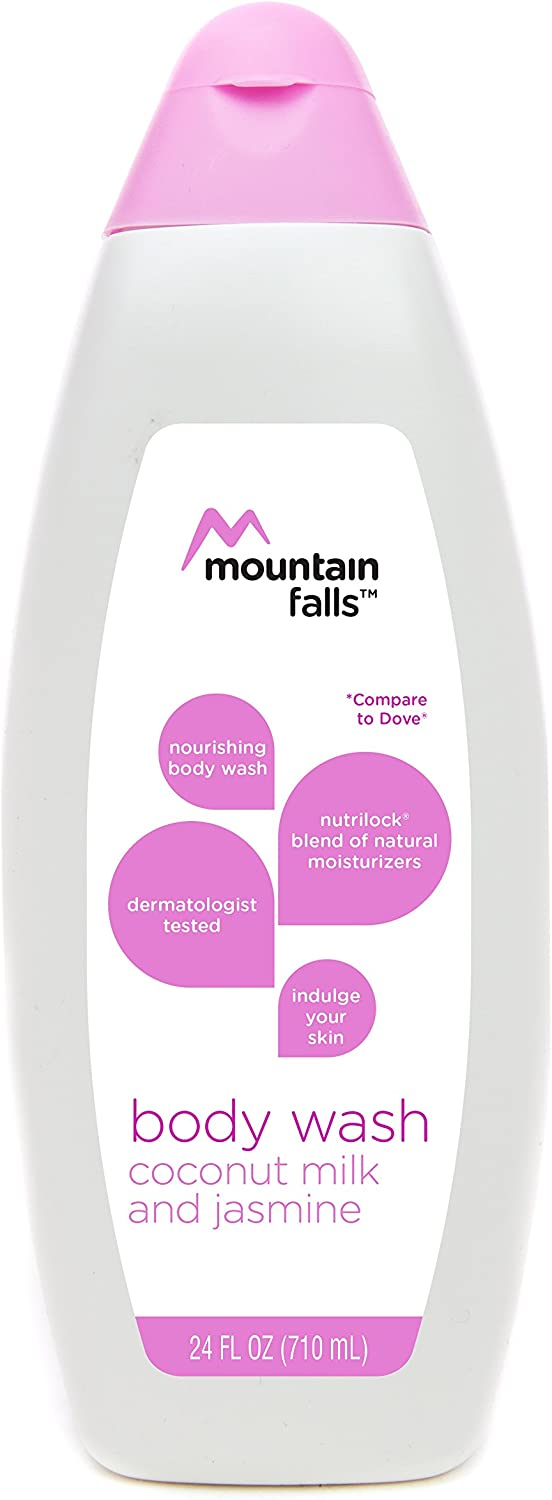Mountain Falls Body Wash, Coconut Milk and Jasmine, with Nutrilock Blend of Natural Moisturizers, Compare to Dove, 24 Fluid Ounce