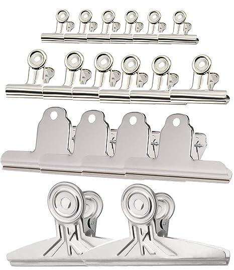 Amazon.com: FOMMEN 19 unidades de clips para encuadernación ...