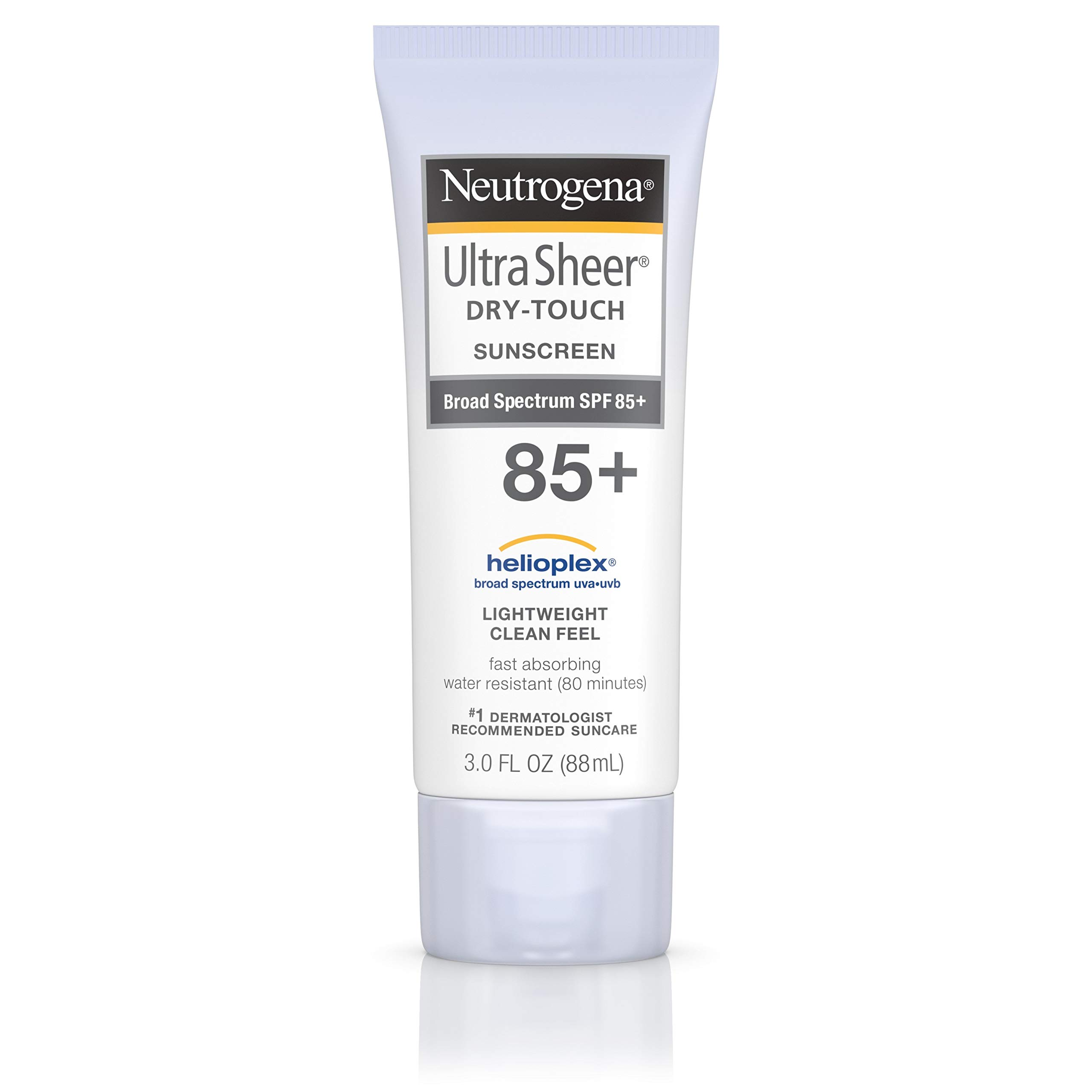 Neutrogena Ultra Sheer Dry-Touch Water Resistant and Non-Greasy Sunscreen Lotion with Broad Spectrum SPF 85, 3 fl. oz