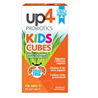 up4 Kids Cubes Probiotic Supplement | Digestive + Immune Support | Vitamin D for Bone Support* | 1 Billion CFUs