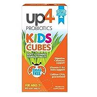 up4 Kids Cubes Probiotic Supplement | Digestive + Immune Support | Vitamin D for...