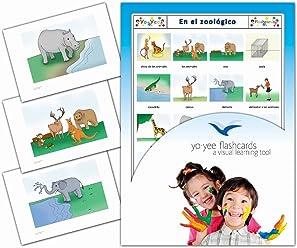 Tarjetas de vocabulario - En el zoológico - Zoo Animal Flash Cards in Spanish for Kids