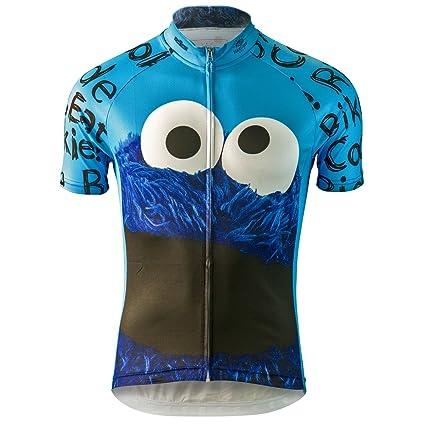 Amazon.com   Cookie Monster Sesame Street Cycling Jersey (Men s ... c5c951713