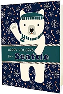product image for Night Owl Paper Goods Polar Seattle Holiday Cards (10 Pack)