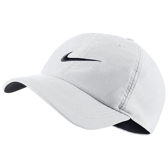 032afd9095e7 Nike Men s Cap (729507-100 White Black Black One Size)  Amazon.in ...