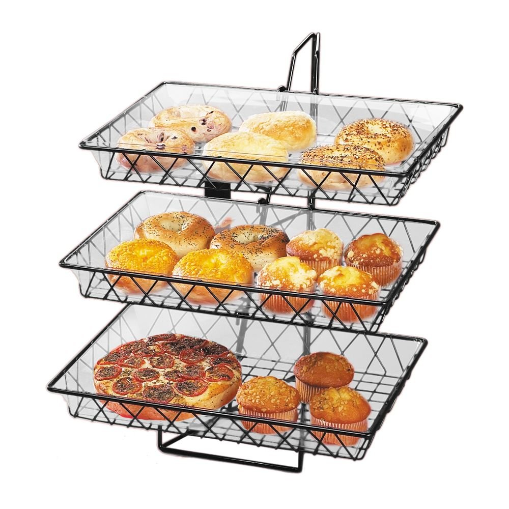 Cal-Mil 1291-3 Wire Merchandisers, 18'' Width x 22'' Depth x 20'' Height, Black by Cal Mil (Image #1)