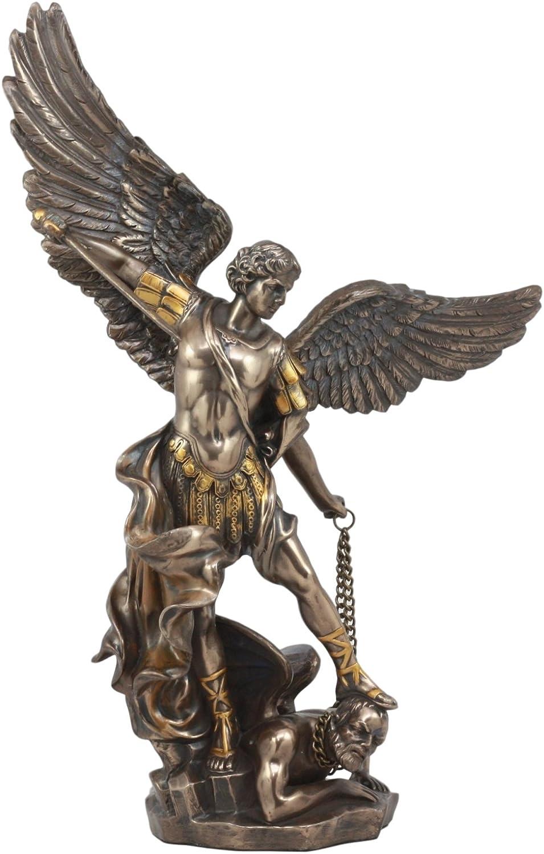 Ebros Large Archangel Saint Michael Slaying Satan Statue 14