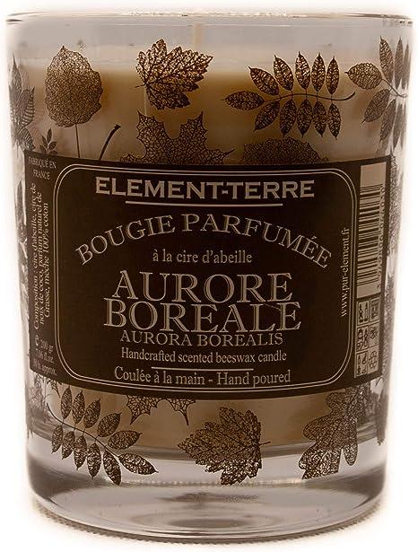element-terre candela profumata 200 grammi, 50 ore profumo aurora boreale:  amazon.it: casa e cucina  amazon.it