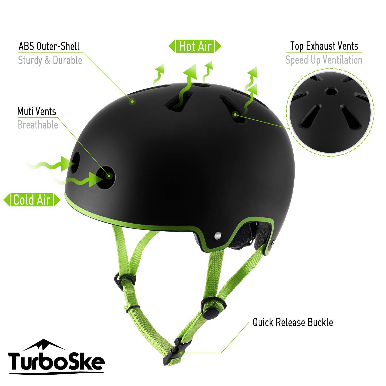 Youth Men Multi-Sport Helmet for Kids TurboSke Skateboard Helmet Women
