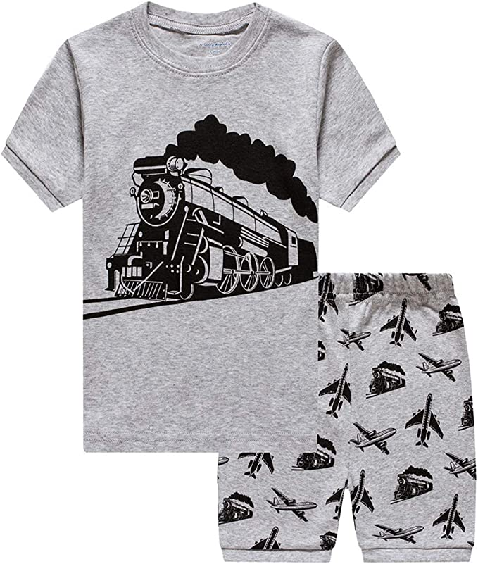 Pijama Tren Niño Manga Corta Algodon 100% Camiseta y Pantalón ...