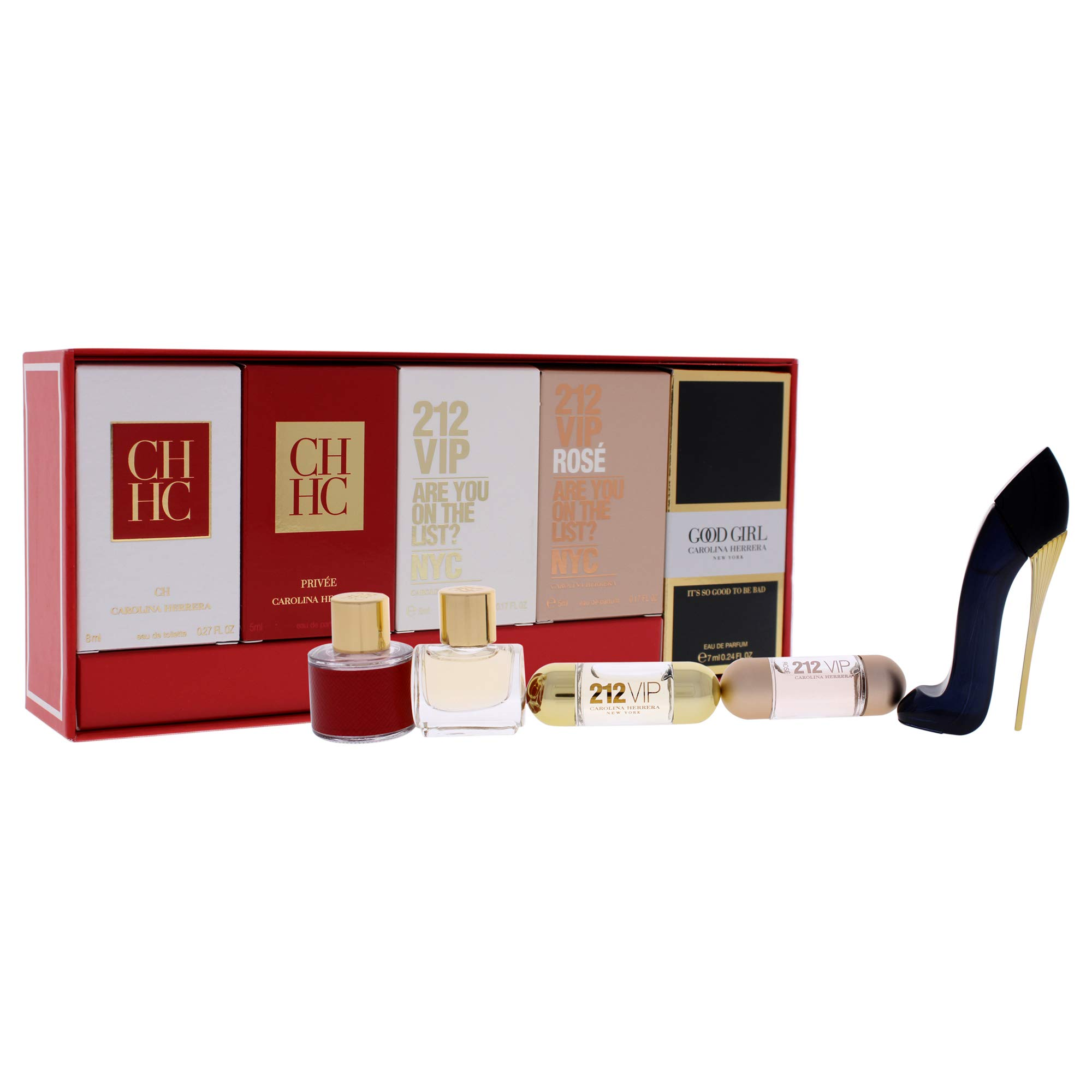 Carolina Herrera Fragrances by Carolina Herrera for Women - 5 Pc Mini Gift Set 8ml CH EDT Splash, 5m