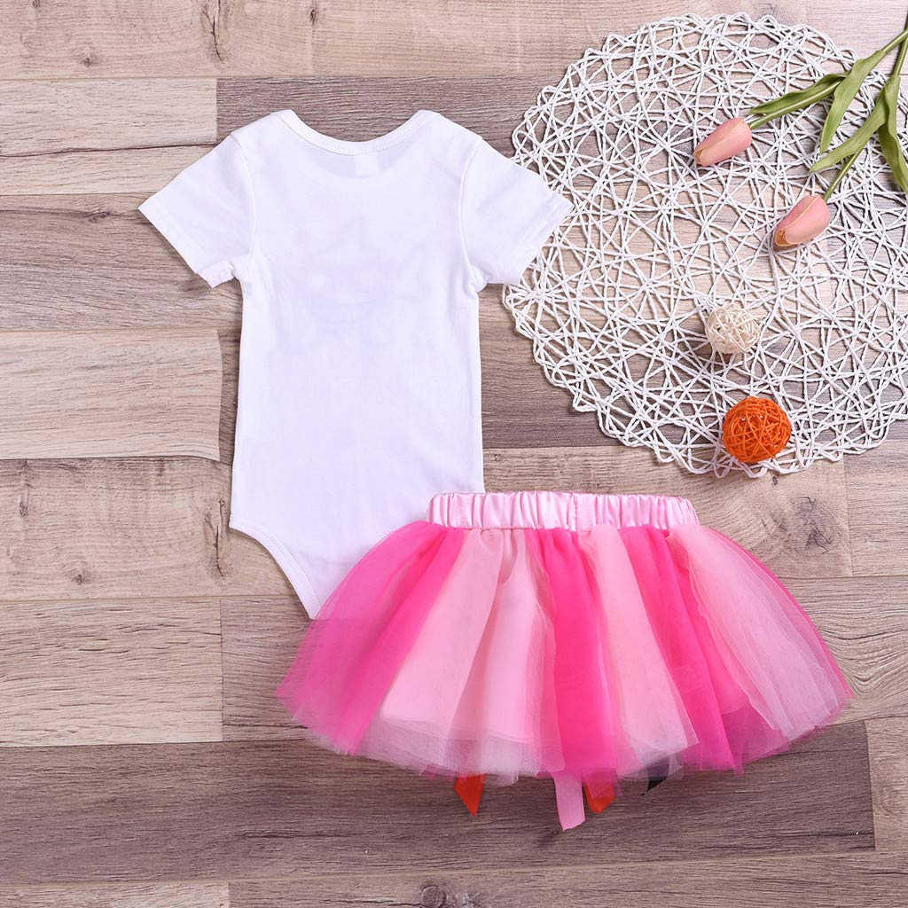 0278b90f7 Amazon.com: Hatoys Toddler Baby Kid Girls Shark Romper Tops Tutu Skirt  Princess Outfit Set Clothes: Clothing