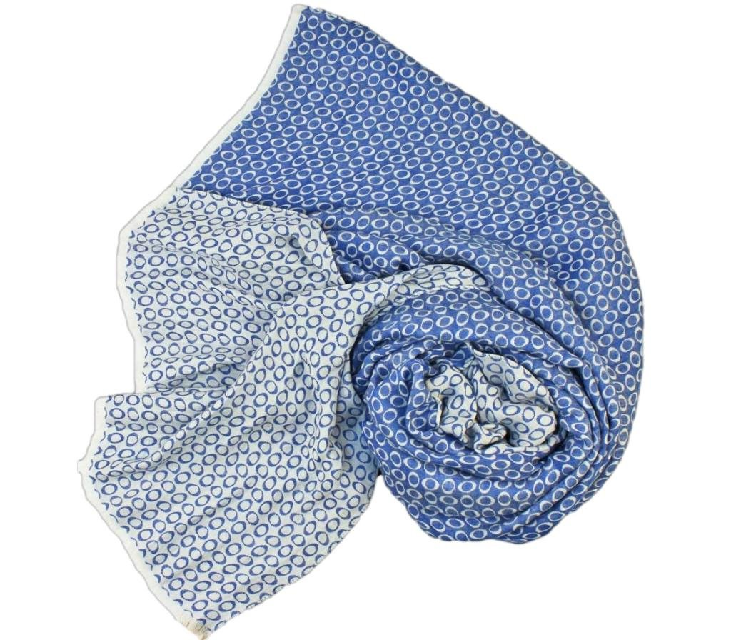 Stanley Lewis Men's Orbit Silk Scarf Cobalt Blue