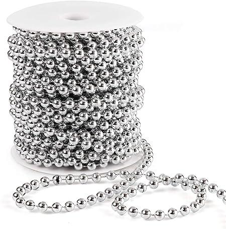 5M Perlenband Perlenkette Perlengirlande Hochzeit Perlenschnur Deko DIY neu