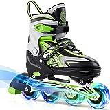 Gonex Inline Skates for Girls Boys Kids, Adjustable Skates Outdoor Blades Inline Roller Skates for Children Teens Women with
