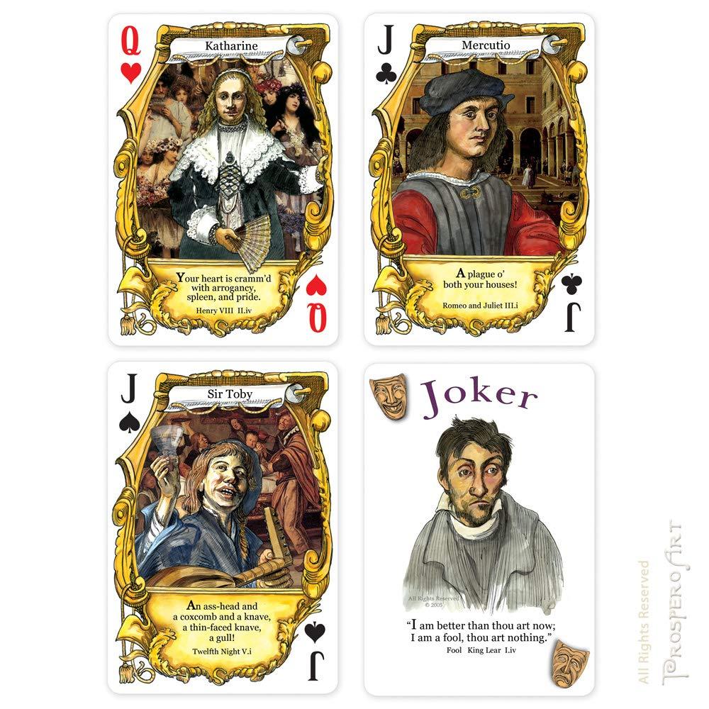 Prospero Art Shakespeare insultos Juego de cartas: Amazon ...
