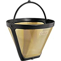 Cilio Premium – Reusable Mesh Coffee filtre – Eliminate need for Paper Filters – Altın Kaplama – farklı sizes