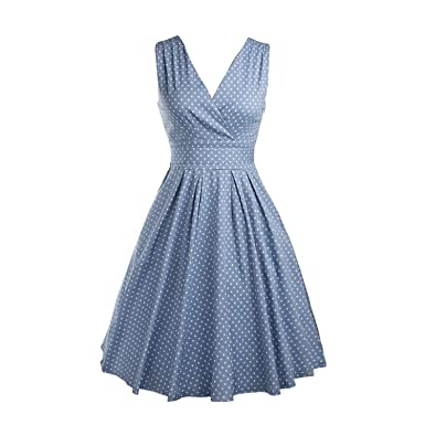 Lady Dress - TOOGOO(R) Womens summer dresses Maggie Tang 50s Vintage Retro robe