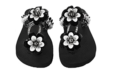 Designer Luxus Flip Flops-Chanclas Exclusivas by Simone Herrera-Glamourous Line-Bella-Riemchen Sandale Zehentrenner (39/40) B83RFojyV