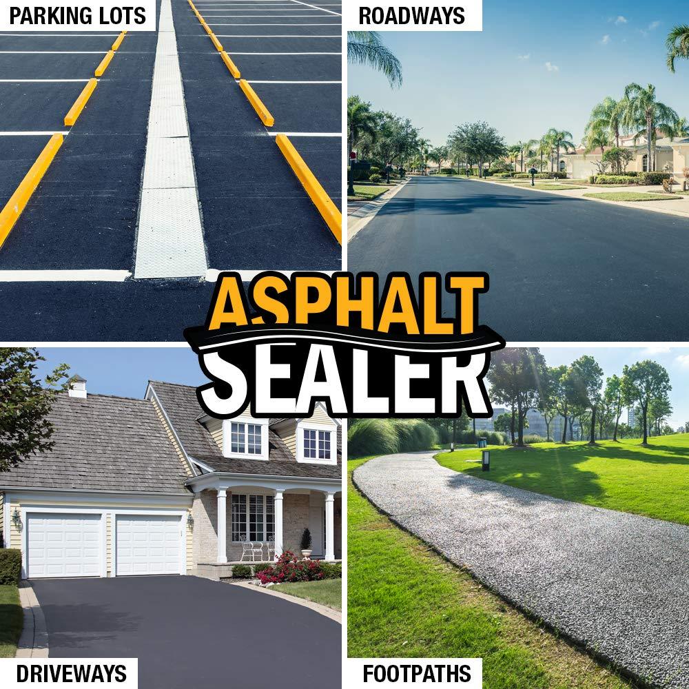 Premium Driveway Sealer & Asphalt Sealer | Sealer for Driveways Blacktop & Asphalt | Commercial Grade - 5 Gallon by FDC Chem (Image #7)