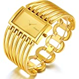Women Luxury Bangle Watch Fashion Stainless Automatic Watch Designer Cuff Bracelet Watches