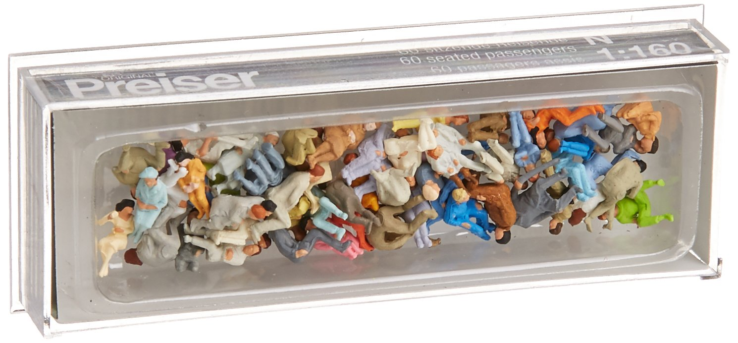 Preiser 79250 Pagers Seated f/Cargo 60/N Model Figure