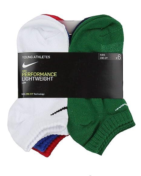 Amazon.com: Nike BOYS 6-Pack ligero de rendimiento ...