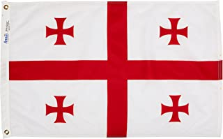 product image for Annin Flagmakers Model 192877 Republic of Georgia Flag Nylon SolarGuard NYL-Glo, 2x3 ft, 100% Made in USA to Official United Nations Design Specifications