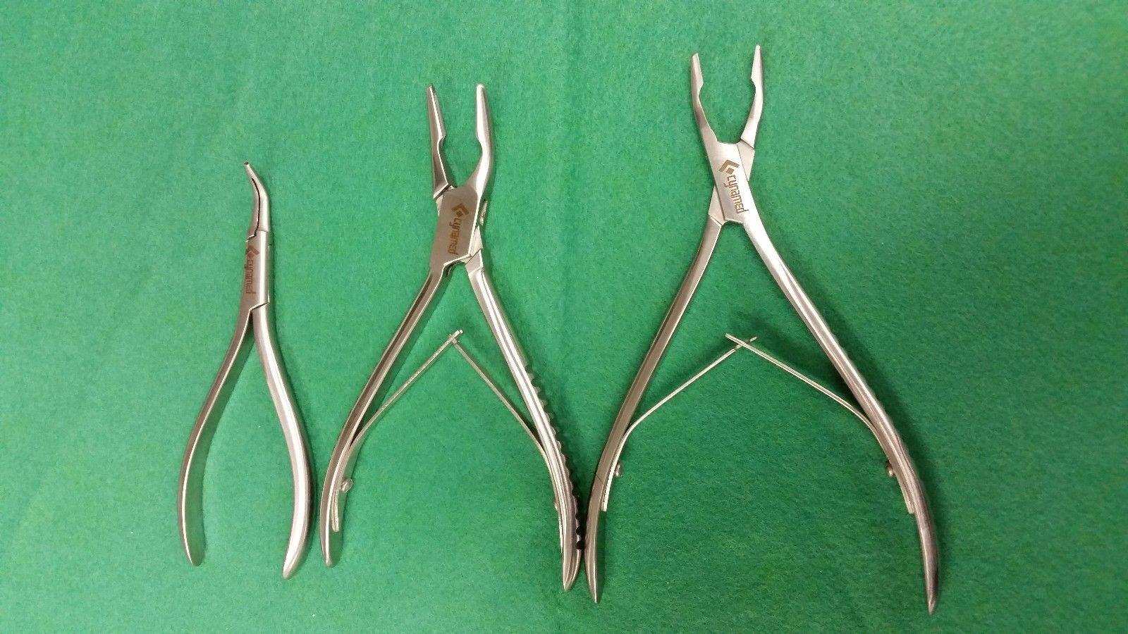 SET of 3 Premium Grade Bone Ronguer Micro Friedman,Bluementhal and Micro Forcep